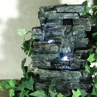 Tabletop Rock Waterfall Fountain