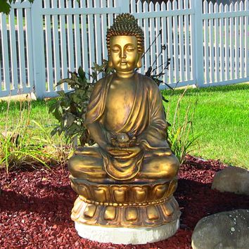 Sunnydaze Decor Electric Buddha Water Fountain