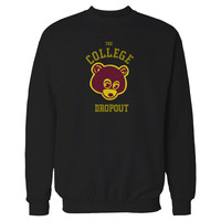 College Dropout Kanye West Bound Yeezy Yeezus GOOD Music Bape Hip Hop Swish So Help Me God Sweatshirt