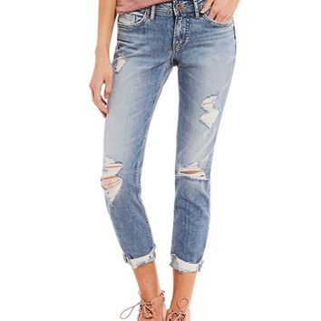 Silver Jeans Suki Perfectly Curvy Skinny Crop Jeans