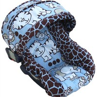 Infant Car Seat Cover in Baby Safari