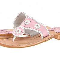 Jack Rogers Navajo Flats In Baby PInk & White : Cousin Couture
