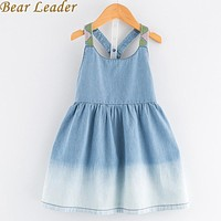 Girls Denim Dress New Dress Kids Dress Children Clothing Girls Clothes