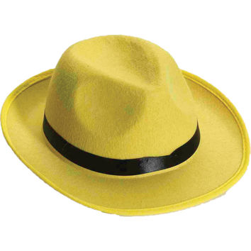Hat Yellow Fedora Adult