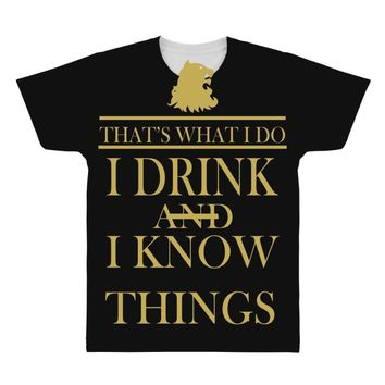 i drink All Over Men's T-shirt