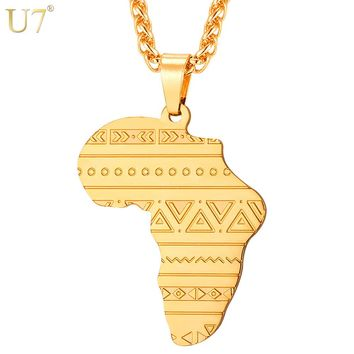 Map of Africa Pattern Pendant