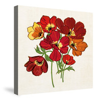 Sweet William Crop Canvas Wall Art