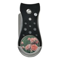 Beautiful pink roses on a natural green background divot tool