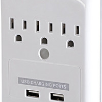 Targus - Plug-N-Power Charging Station with USB Charging Ports - White