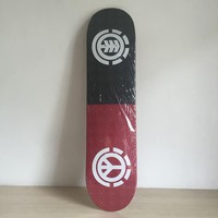 "Element 7.5"" 7ply Hardwood Maple Black & Red Skateboard Deck"