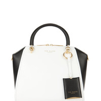 Leather tote bag - White | Bags | Ted Baker UK
