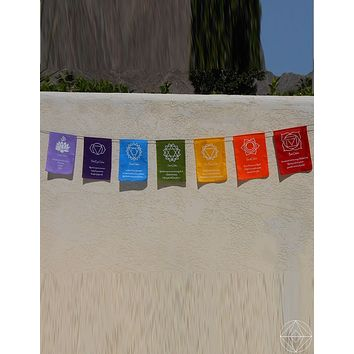 Chakra Well-being Prayer Flag