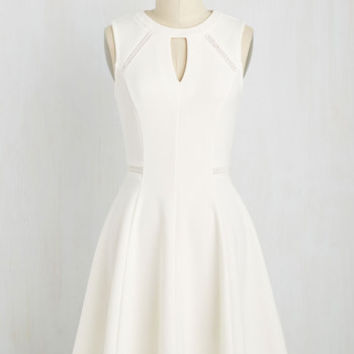 Moxie Must-Have Dress in White | Mod Retro Vintage Dresses | ModCloth.com