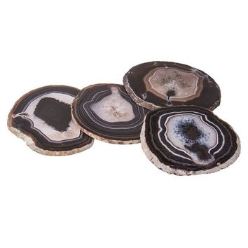 Natural Agate Coasters (Set of 4) ~ Natural Finish