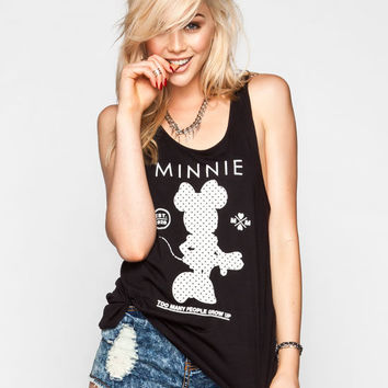 Neff Disney Collection Minnie Stand Up Womens Tank Black  In Sizes