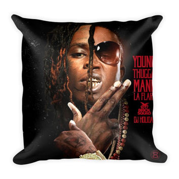 Young Thugga Mane La Flare (16x16) All Over Print/Dye Sublimation Young Thug Gucci Mane Couch Throw Pillow Insert & Pillow Case/Cover