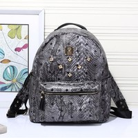 MCM Women Leather Casual Shoulder SchoolBag Satchel Handbag Backpack bag H-YJBD-2H