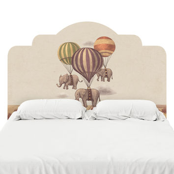 Flight of the Elephants Headboard Decal