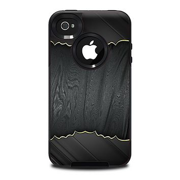 The Zig Zag Gray Wood Grain Skin for the iPhone 4-4s OtterBox Commuter Case