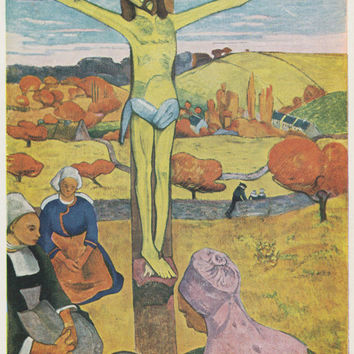 "Vintage English Postcard -- Paul Gauguin ""The Yellow Christ"" -- 1960s"