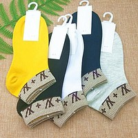 LV Louis Vuitton Fendi Fashion Women Breathable Cotton Sport Socks