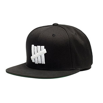 Undefeated 5 Strike Snapback Hat In Black O/S