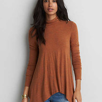 AEO Soft & Sexy Turtleneck T-Shirt, Orange