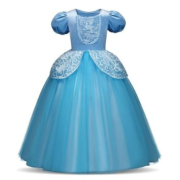 Princess Elsa Girls Dress