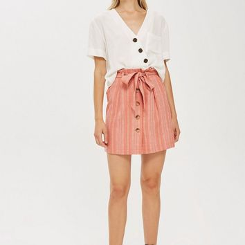 TALL Stripe Paperbag Skirt - Skirts - Clothing