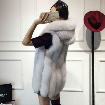 2017 Spring Faux Fur Vest Women Plush Hooded Fur Coat Ladies Slimming Sleeveless Jacket Imitation Fur Gilet Shaggy Waistcoat