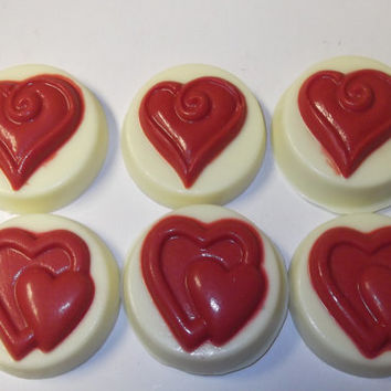 Heart Chocolate Covered Oreos Wedding Favors Bridal Shower Bridesmaid Gift Dessert Bar Anniversary Birthday Party   - 12 Cookies