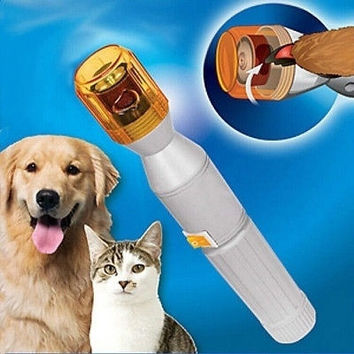 Pet Dog Cat Nail Grooming Grinder Trimmer Clipper Electric Nail File Kit [7671394694]
