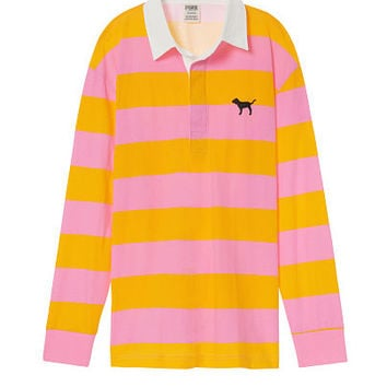 Long Sleeve Rugby Tee - PINK - Victoria's Secret