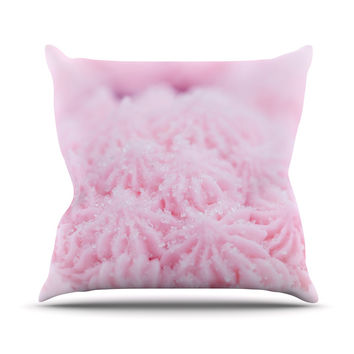 "Debbra Obertanec ""Cupcake Pink"" Sparkle Throw Pillow"