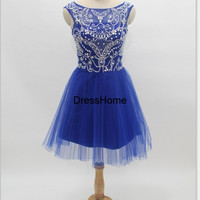 Homecoming Dress - Royal Blue Homecoming Dress / Short Prom Dress / Sweet 16 / Blue Cocktail Dress / Short Homecoming Dress