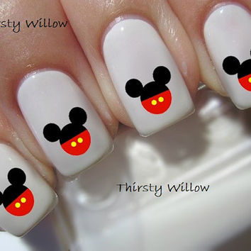 Mickey Mouse Pants Ears Disney Waterslide Nail Decal Water Transfers