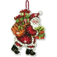 SANTA WITH BAG ORNAMENT - Counted Cross Stitch Kit
