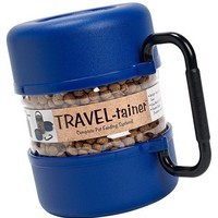 Vittles Vault Pet Food Travel-Tainer Kit - Blue