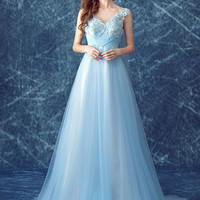 Sexy Evening Party Prom Gown Formal Bridesmaid Cocktail Chiffon Lace Dress