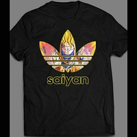 DRAGON BALL Z SUPER SAIYAN CARTOON ART ATHLETIC PARODY T-SHIRT