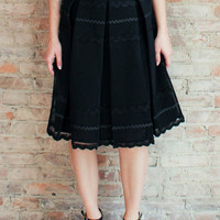 Matinee Midi Skirt - Black