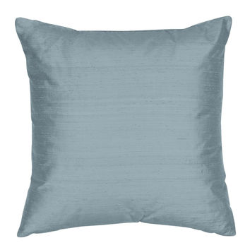 Throw Pillow Cover - Silk Shantung Decorative Pillow - 16,18,20,22,24 inch  Pillow  Cushion - Silk Fabric: Ocean Blue