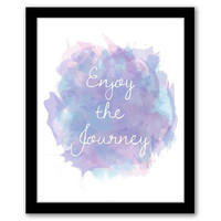 Enjoy The Journey, Watercolor, Purple Wall Art, Home Decor, Quote Art Print, Inspirational Quote, Typography, INSTANT DOWNLOAD.