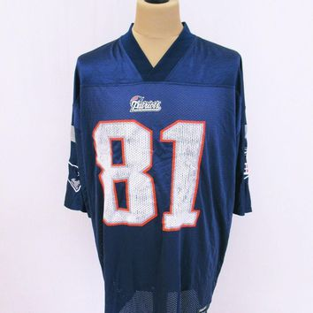 NFL New england Patriots American Football Kit Jersey Top T-Shirt XL Outsized