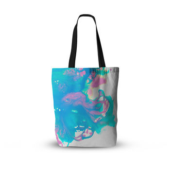 "Ashley Rice ""AC2"" Teal Blue Everything Tote Bag"