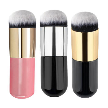 1Pcs 7Colors Flat Liquid Foundation Makeup Brushes Blush Buffer Powder Make up Brushes Beauty Primer Kabuki Contour Brush Tools
