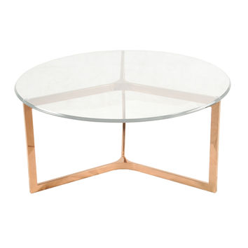 Best round gold coffee table products on wanelo for Rose gold round coffee table