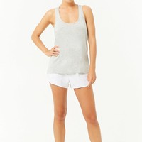 Active Heathered Twisted Back Tank Top