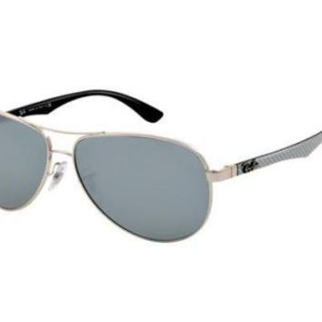 NEW Ray Ban RB8313 00340 61 Silver Crystal Mens Womens Sunglasses Glasses