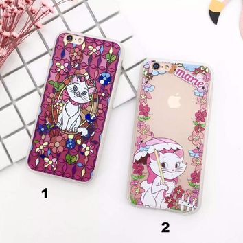 TPU lovely Marie cat mobile phone case for iPhone X 7 7plus 8 8plus iPhone6 6s plus -171113